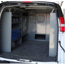 "GMC Savana Full Size Van Safety Partition, Bulkhead with 10"" opening"
